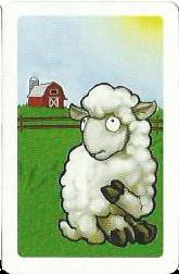 Black Sheep carte mouton blanc