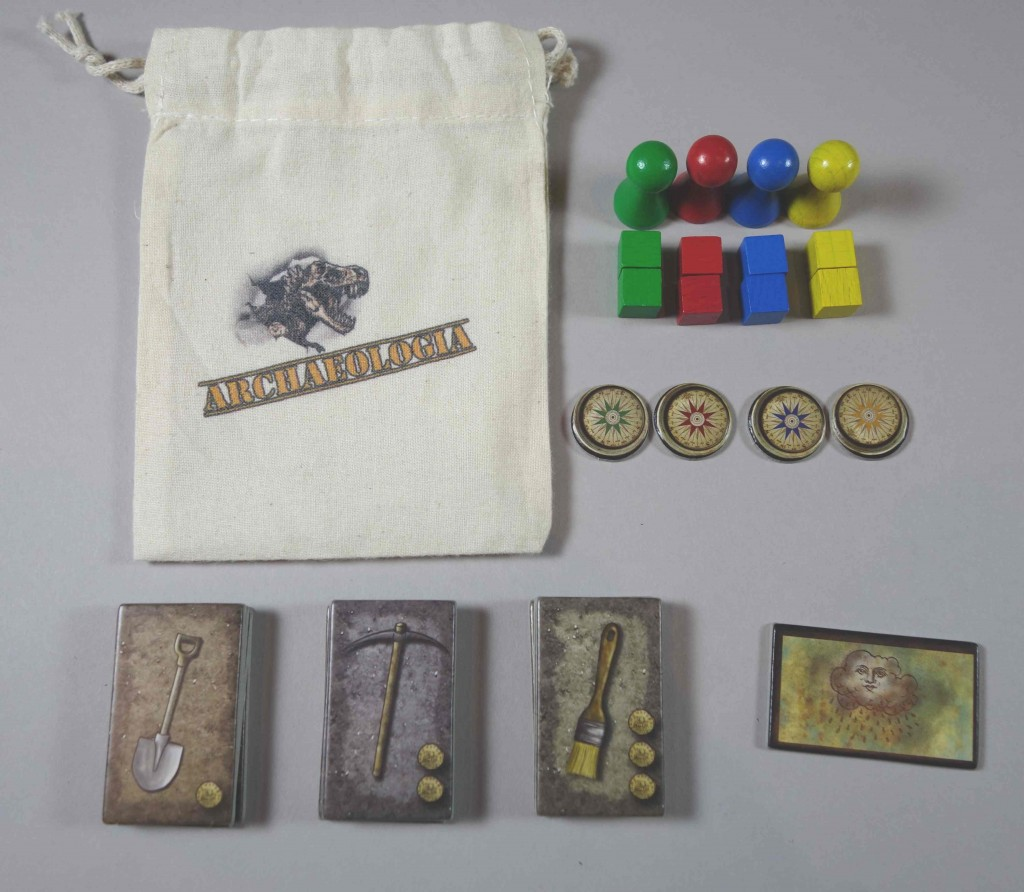 Archaeologia pions sachets outils