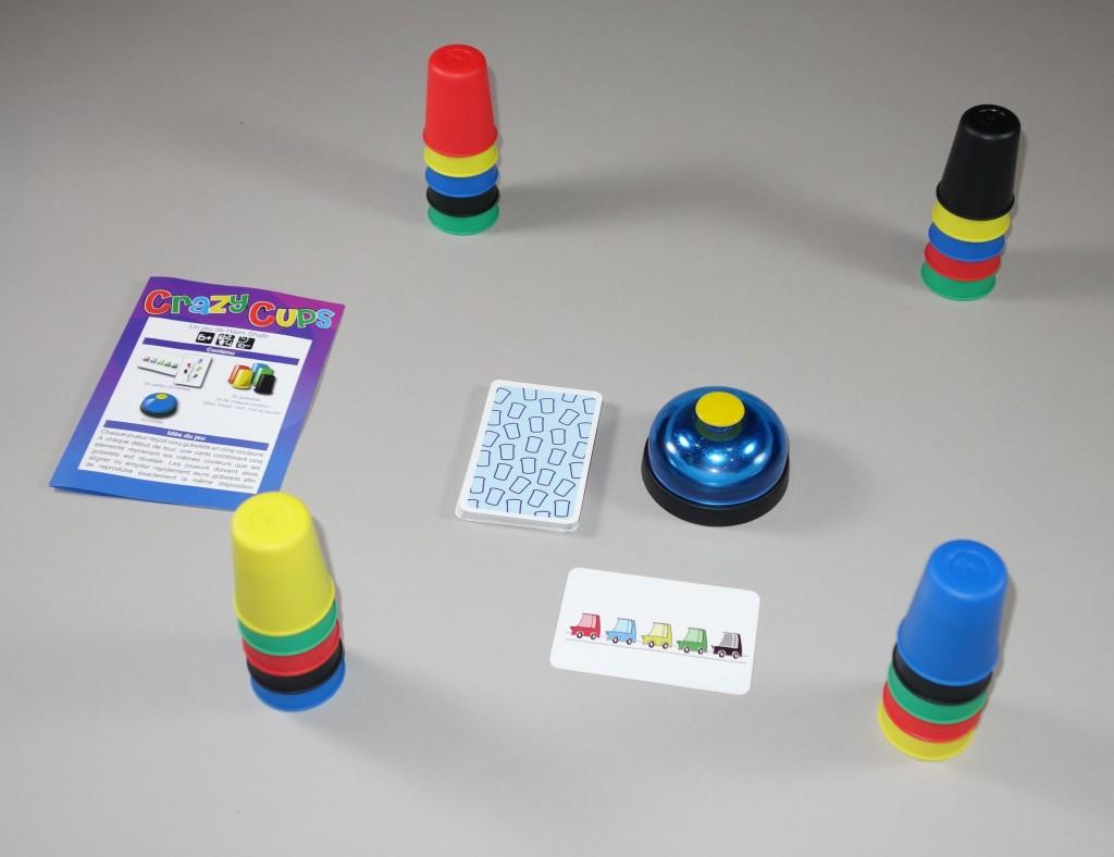 Crazy cups jeu
