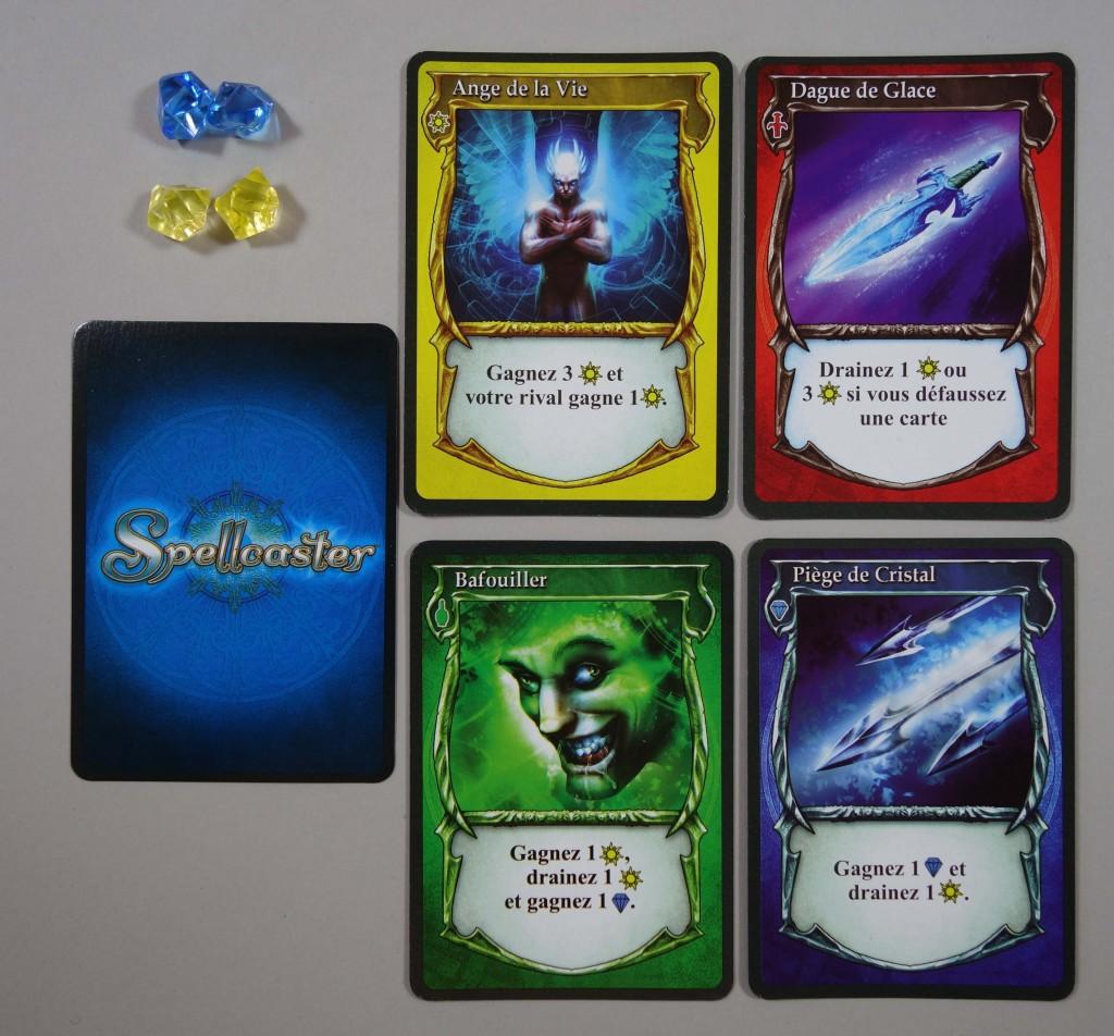 Cartes, saphir, energie, sorts