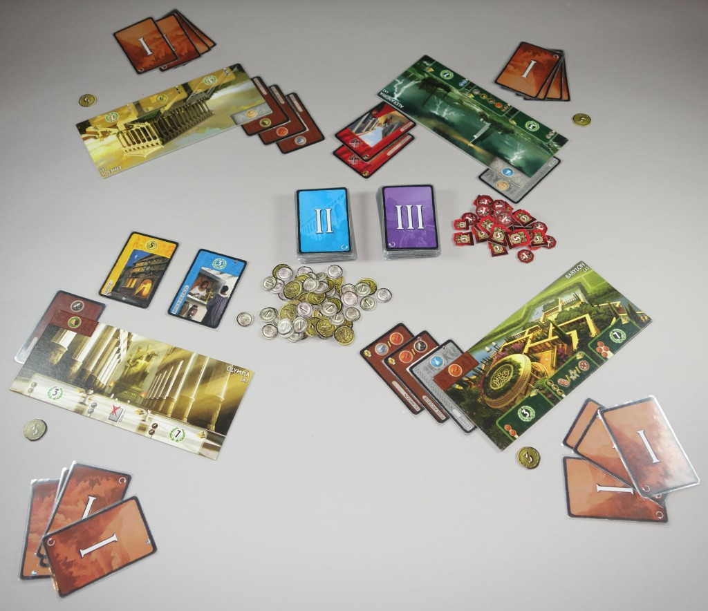 7 wonders partie en cours 4 joueurs