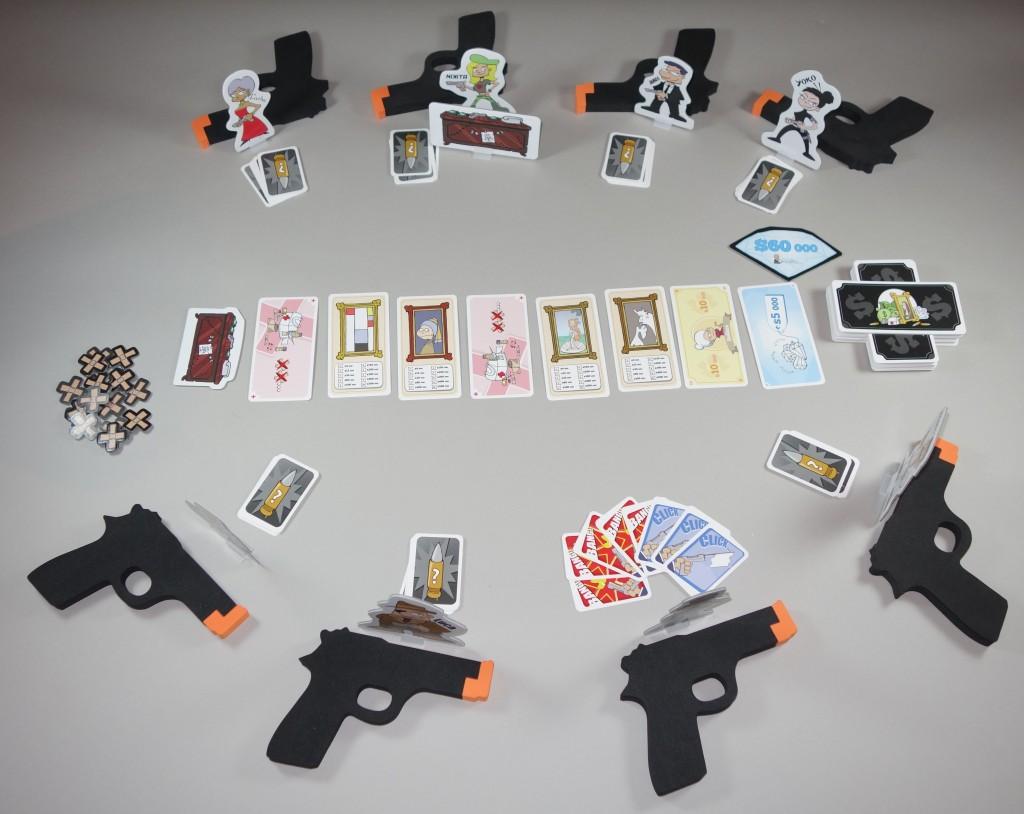 Cash'N Guns début de partie placement