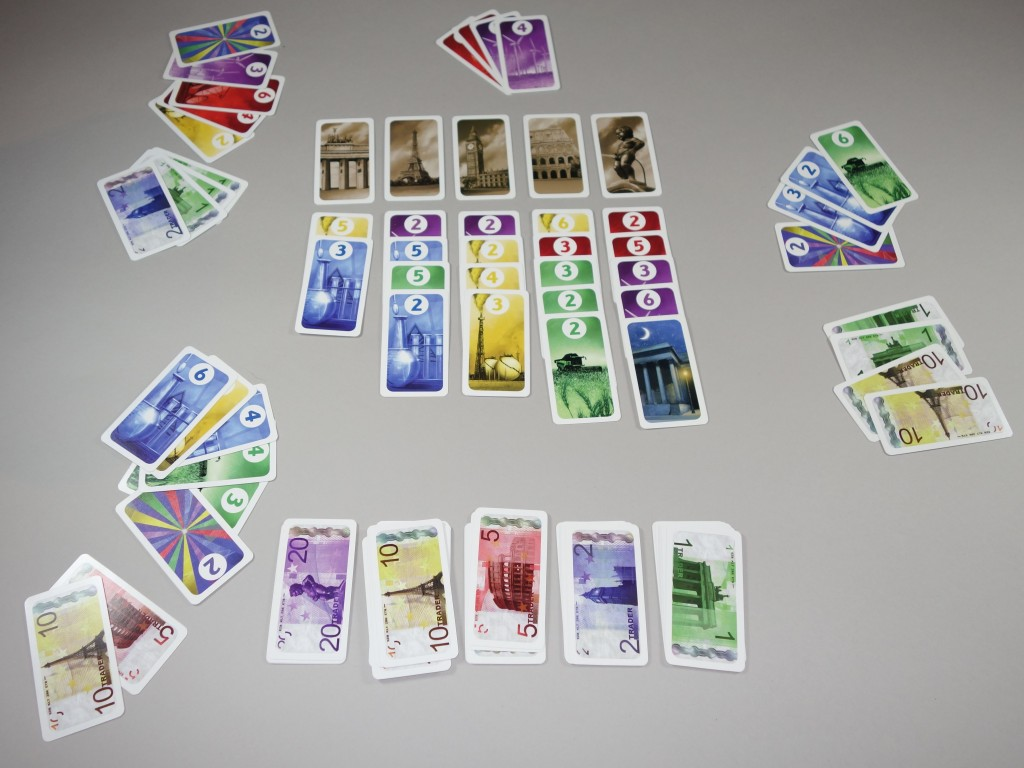 trader jeu en cours cartes