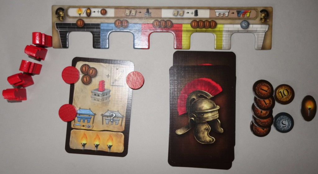porta nigra éléments joueurs romains cartes sesterses action