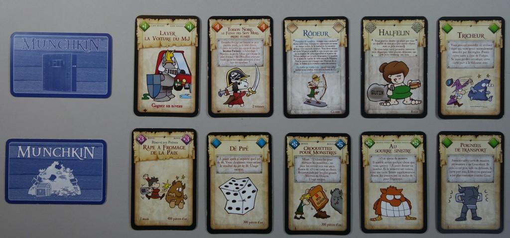 munckin cartes trésor donjon