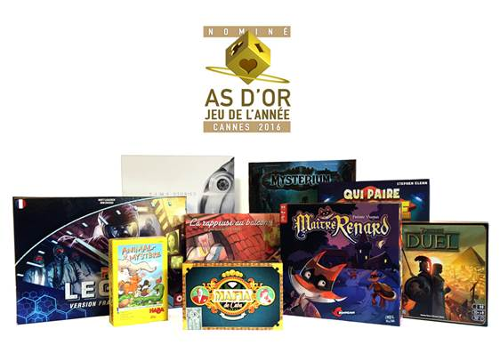 nominés as d'or 20160